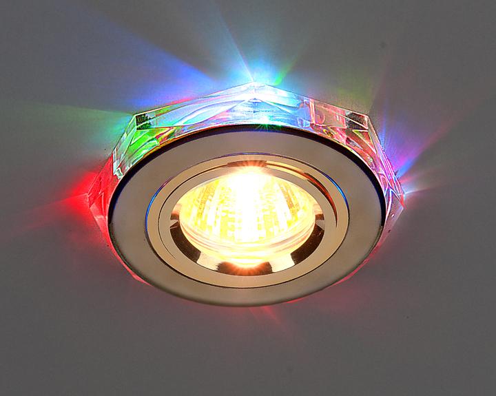 Точечные светодиодные светильники для натяжных потолков фото в интерьере