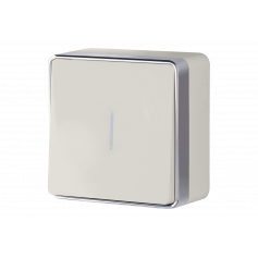 Выключатель одноклавишный с подсветкой WERKEL WL15-01-04