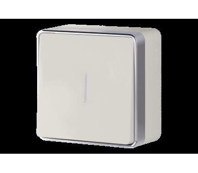 Выключатель одноклавишный с подсветкой Werkel Gallant WL15-01-04 (цвет Слоновая кость)
