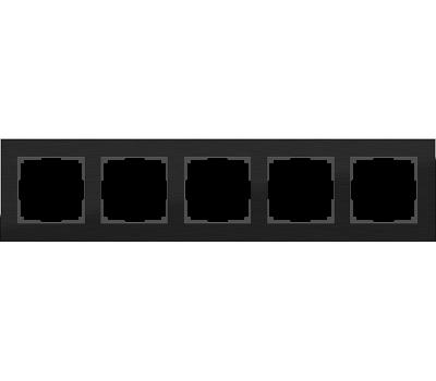 Рамка на 5 постов Werkel Aluminium WL11-Frame-05 (цвет Черный алюминий)