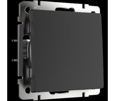 Выключатель одноклавишный WERKEL WL08-SW-1G черный