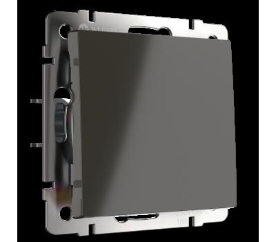 Выключатель одноклавишный WERKEL WL07-SW-1G Серо-коричневый