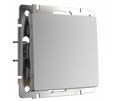 Выключатель одноклавишный WERKEL WL06-SW-1G серебряный