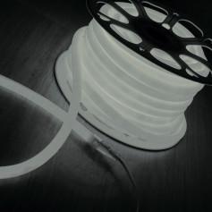 Гибкий неон LS002 220V 9.6W 120Led 2835 IP67 6500K круглый белый, 100 м