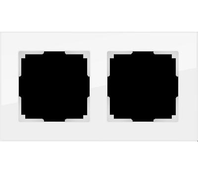 Рамка на 2 поста (белый,стекло) WL01-Frame-02