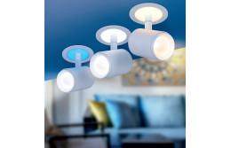НОВИНКА! Светодиодный светильник с LED подсветкой основания DSR002 9W + 3W БЕЛЫЙ МАТОВЫЙ